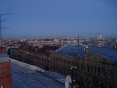 на крыше гостиницы в Питере