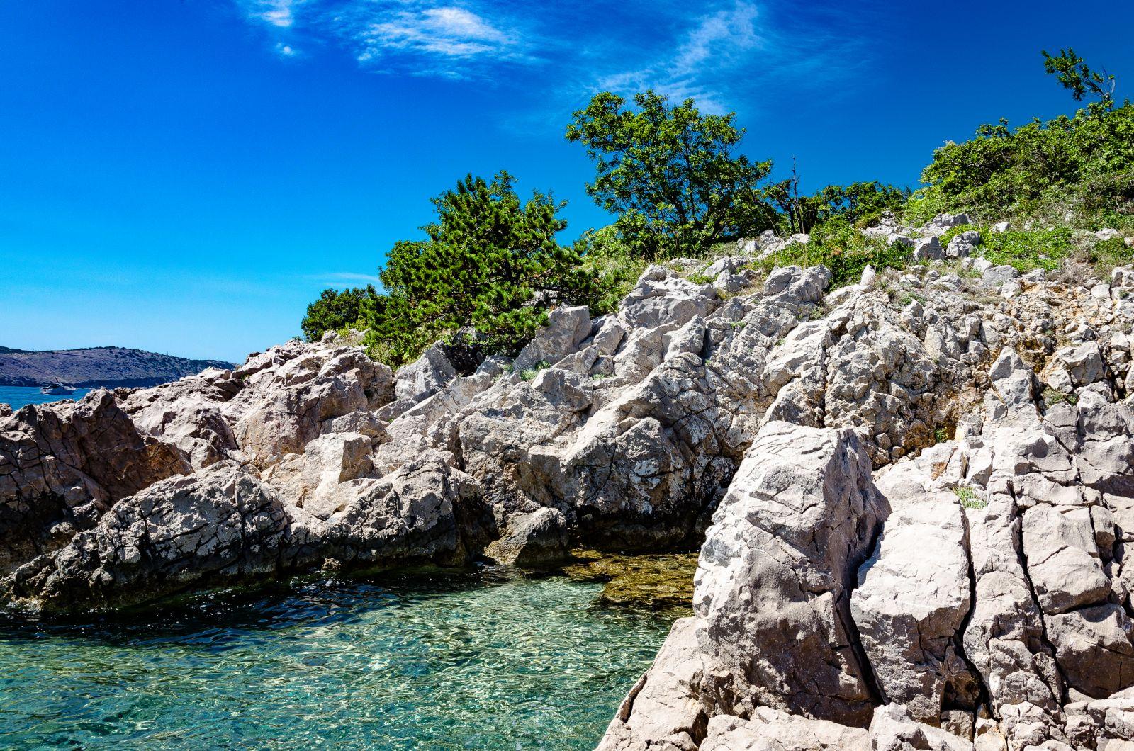 Скалистые берега Хорватии