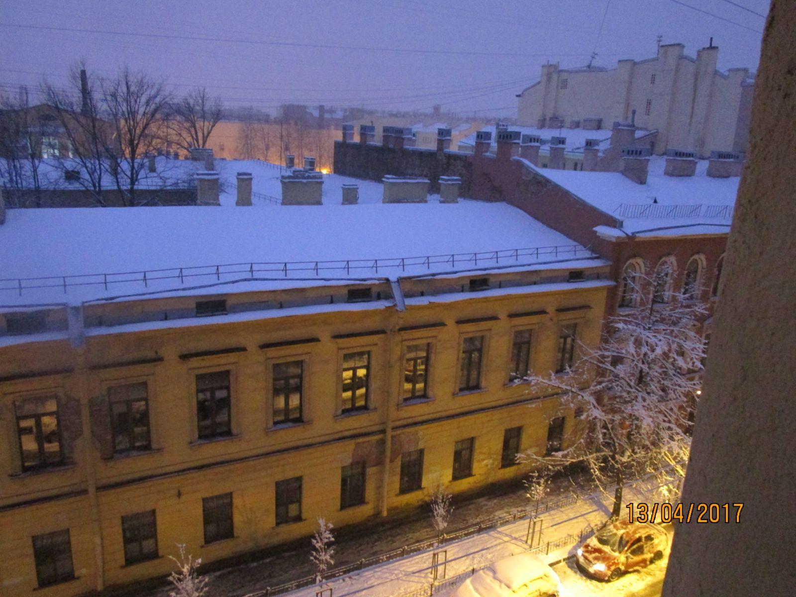 17.04.13 Питер в снегу