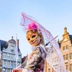 Les Costumés de Venise. Bruges. Belgium 14.01.2018