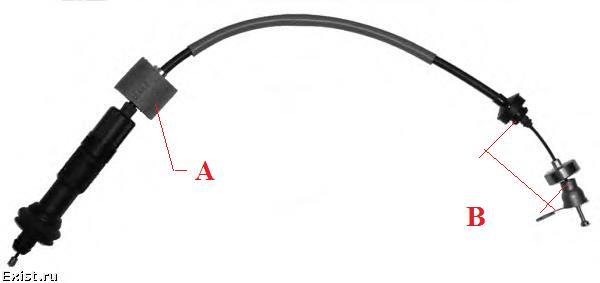 замена троса авторегулирующий сцепления на ситроен ксара